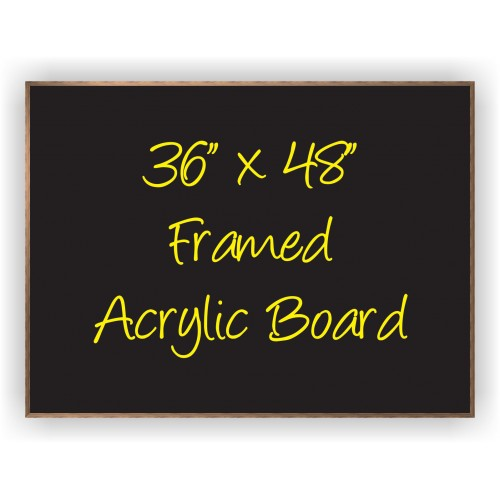 36 Quot X 48 Quot Wood Framed Acrylic Sign Bnp 3648f By Www