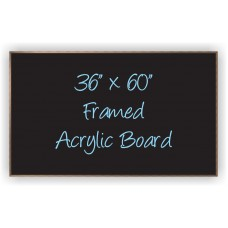 "36""x 60"" Wood Framed Acrylic Sign"