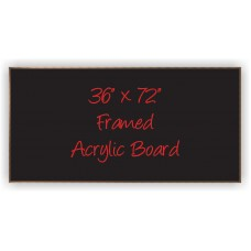"36""x 72"" Wood Framed Acrylic Sign"