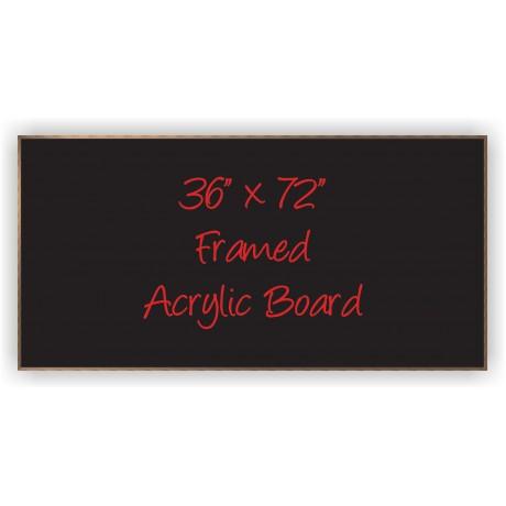 """36"""" x 72"""" Wood Framed Acrylic Sign"""
