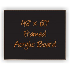 "48""x 60"" Wood Framed Acrylic Sign"