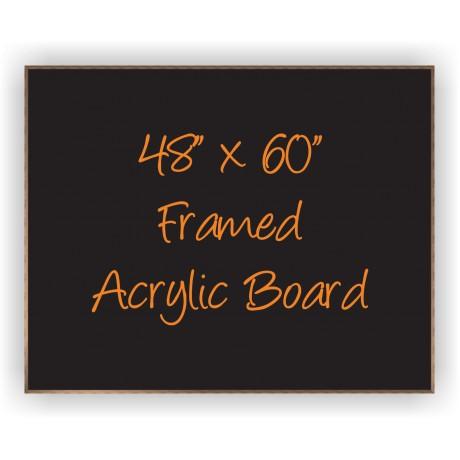 """48"""" x 60"""" Wood Framed Acrylic Sign"""