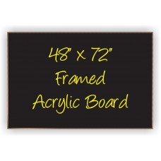 "48""x 72"" Wood Framed Acrylic Sign"