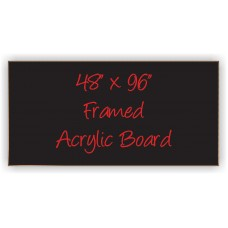 "48"" x 96"" Wood Framed Acrylic Sign"