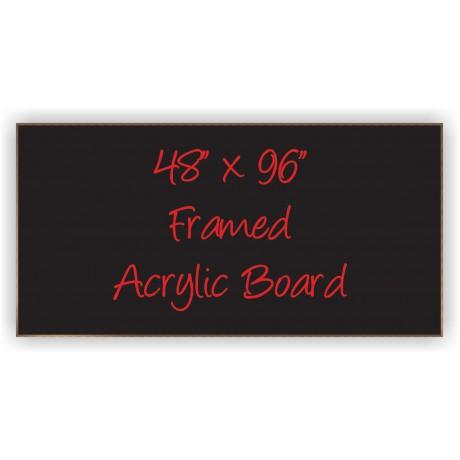"""48"""" x 96"""" Wood Framed Acrylic Sign"""