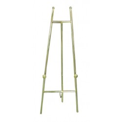 "60"" Brass Finish Presentation Easel"