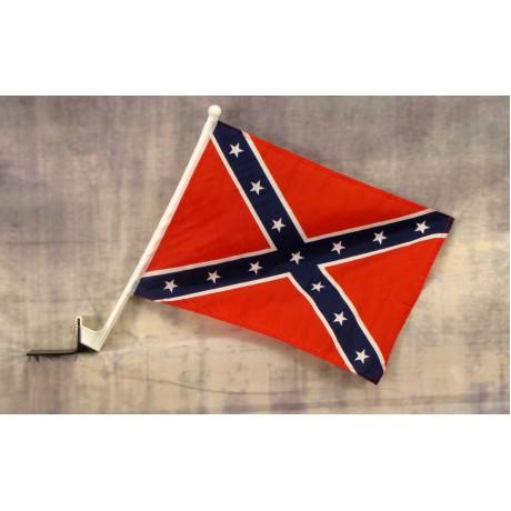 "Rebel 12"" x 15"" Car Window Flag"