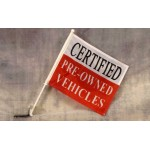 """Certified Pre-Owned 12"""" x 15"""" Car Window Flag"""