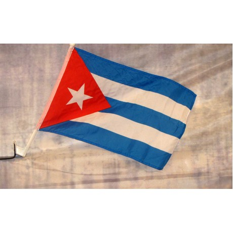 "Cuba 12"" x 15"" Car Window Flag"
