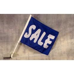 """Sale Blue 12"""" x 15"""" Car Window Flag"""
