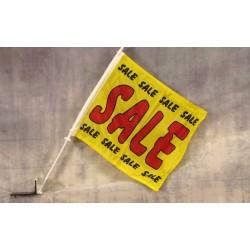 "Sale Yellow 12"" x 15"" Car Window Flag"