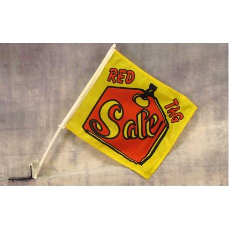 """Sale Red Tag 12"""" x 15"""" Car Window Flag"""