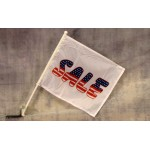 "Sale USA 12"" x 15"" Car Window Flag"