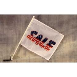 "Sale USA 12"" x 15"" Car Window Flag"
