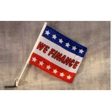 We Finance With Stars Car Window Flag