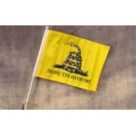 "Don't Tread On Me 12"" x 15"" Car Window Flag"