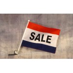 Sale Red, White & Blue Car Window Flag