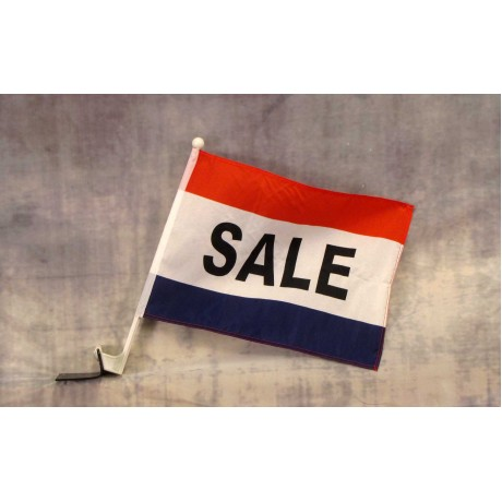 "Sale Patriotic 12"" x 15"" Car Window Flag"