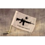 "Come And Take It Carbine 12"" x 15"" Car Window Flag"