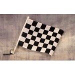 Checkered Black and White Car Window Flag