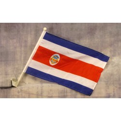 """Costa Rica 12"""" x 15"""" Car Window Flag"""