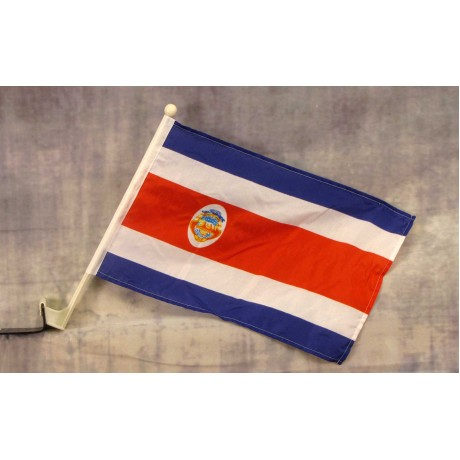 "Costa Rica 12"" x 15"" Car Window Flag"