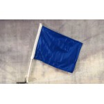 "Solid Blue 12"" x 15"" Car Window Flag"