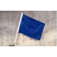 Solid Blue Car Window Flag