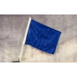 """Solid Blue 12"""" x 15"""" Car Window Flag"""