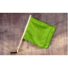 Solid Green Car Window Flag