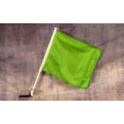 """Solid Green 12"""" x 15"""" Car Window Flag"""