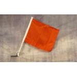 """Solid Orange 12"""" x 15"""" Car Window Flag"""