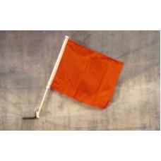 Solid Orange Car Window Flag