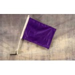 "Solid Purple 12"" x 15"" Car Window Flag"