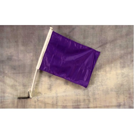 "Solid Purple 12"" x 15"" Car Window Flag"