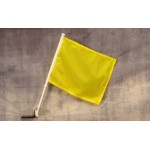 "Solid Yellow 12"" x 15"" Car Window Flag"