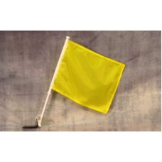 Solid Yellow Car Window Flag