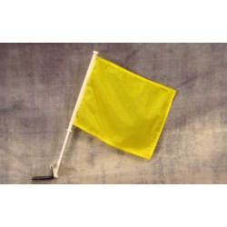 "Solid Yellow 12"" x 15"" Car Window Flag"