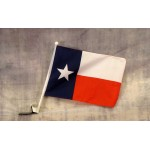 "Texas 12"" x 15"" Car Window Flag"