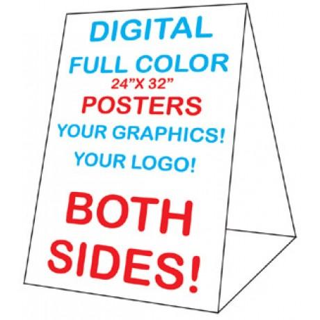 24 x 32 Corex Roadside Tent Sign - Custom Posters