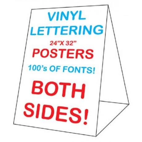 24 x 32 Corex Roadside Tent Sign - Vinyl Letters