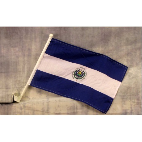 "El Salvador 12"" x 15"" Car Window Flag"