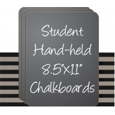 "8.5"" x 11"" Black Hand Held Chaklboard Sign - 6 Set"