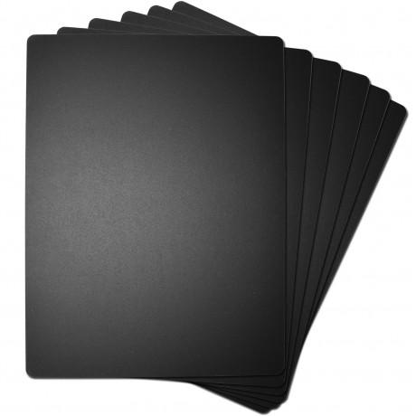 "8.5"" x 11"" Black Hand Held Chaklboard Sign - 6 Set"
