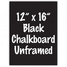 "12""x 16"" Frameless Black or White Acrylic Sign"