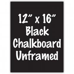 "12""x 16"" Frameless Black or White Acrylic Sign"