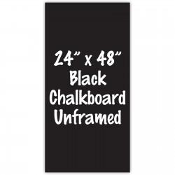 "24""x 48"" Frameless Black or White Acrylic Sign"