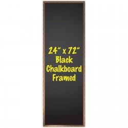 """24"""" x 72"""" Wood Framed Black Chalkboard Sign"""