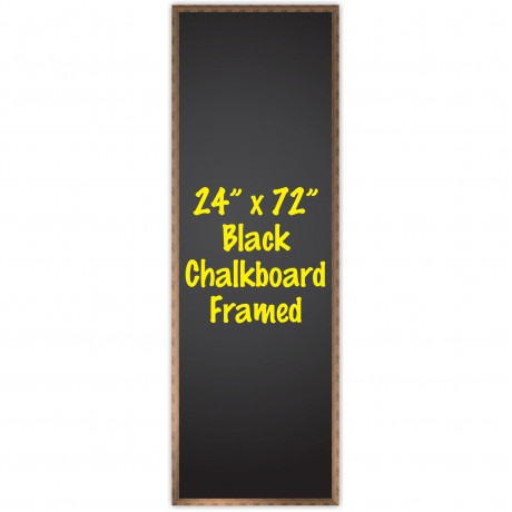 "24"" x 72"" Wood Framed Black Chalkboard Sign"