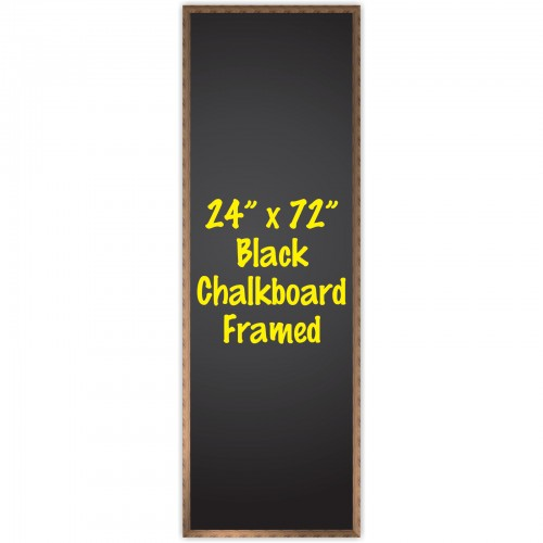 24 X 72 Wood Framed Black Chalkboard Sign Cbb 2472f By Www